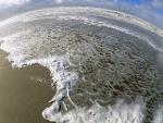 Agua de mar en la playa