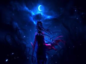 Caminando bajo la luz de la luna