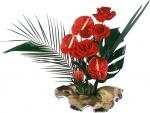 Espléndida decoración con anturios y rosas