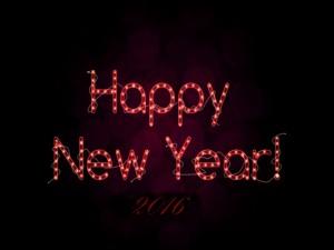 Letrero de ¡Feliz Año Nuevo 2016!