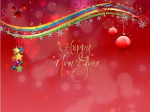 Adornos con mensaje de Año Nuevo 2016