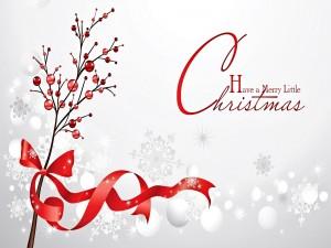 Bonita felicitación en Navidad