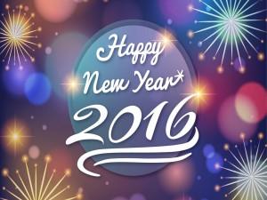Feliz Año Nuevo 2016 entre luz y color