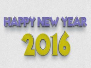 Feliz Año Nuevo 2016 en 3D
