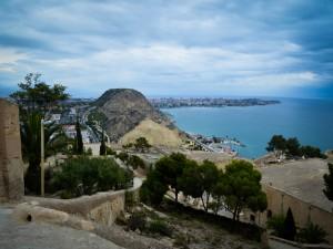 Vista desde el castillo de Santa Bárbara (Alicante, España)