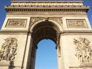 Arco del Triunfo visto desde abajo
