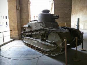 Tanque en un museo