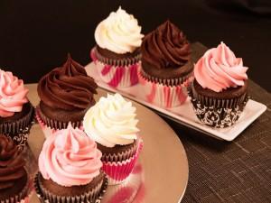 Cupcakes con un rico glaseado