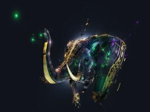 Elefante en 3D