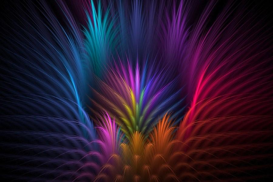 Plumas de colores (74186)