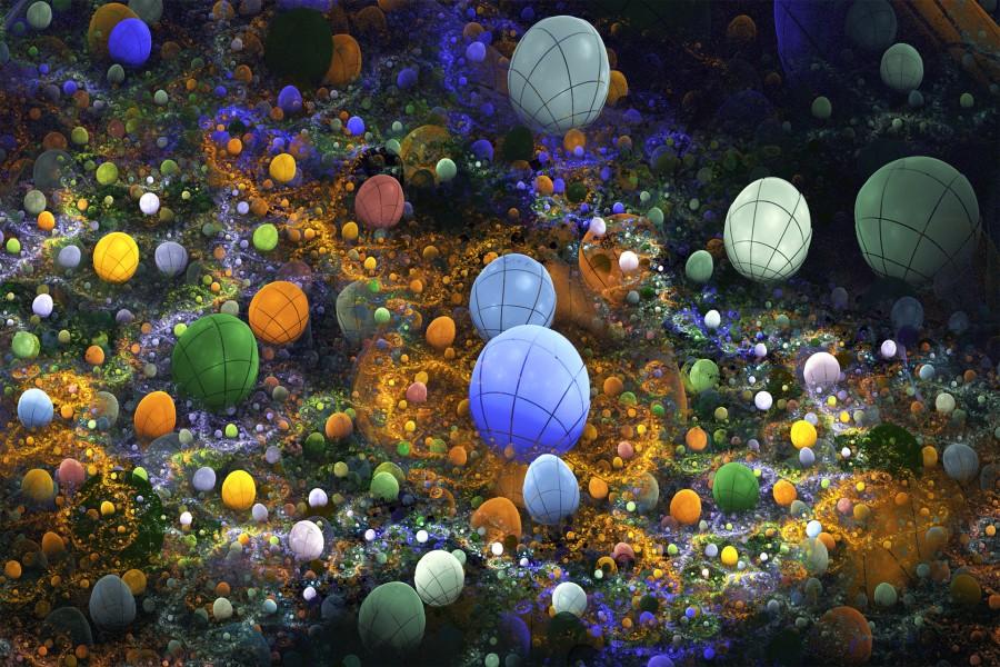 Pelotas multicolores