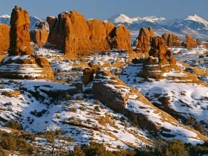 Nieve en el Parque Nacional de los Arcos