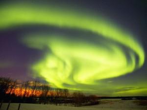 Luces del Norte en Alberta (Canadá)