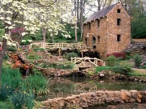 Un bonito molino de piedra (Arkansas)