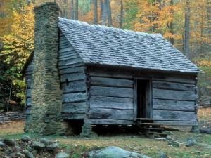 Una cabaña en el bosque