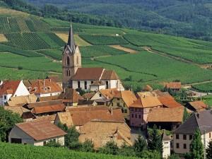 Vista de Rodern (Alsacia, Francia)