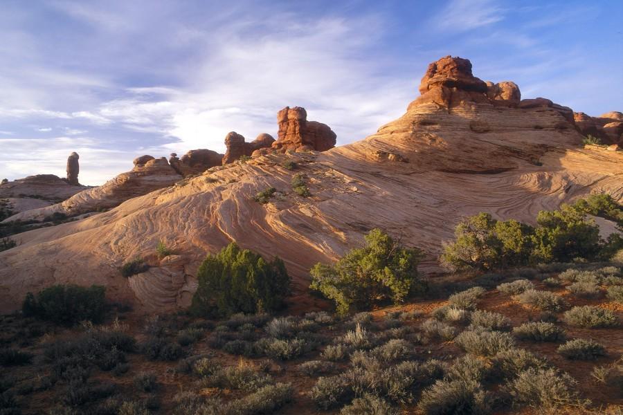Formación rocosa en el Parque Nacional de los Arcos