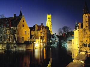 Noche en Brujas (Bélgica)