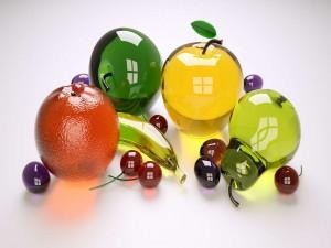 Frutas de vidrio