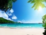 Sol y  playa en las islas Vírgenes