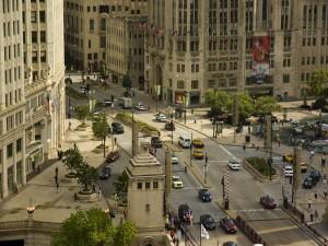 Edificios y calles de Chicago