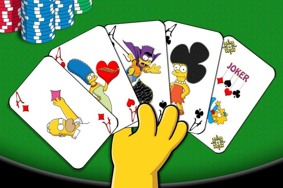 Cartas de poker con la imagen de Los Simpsons