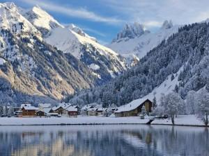 Invierno en la montaña