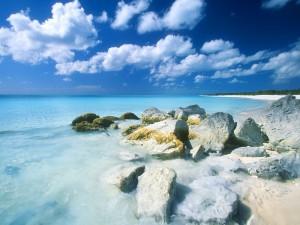 Rocas bañadas por el agua