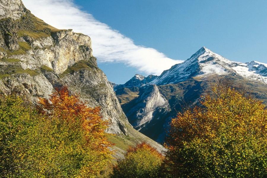 Otoño en unas montañas