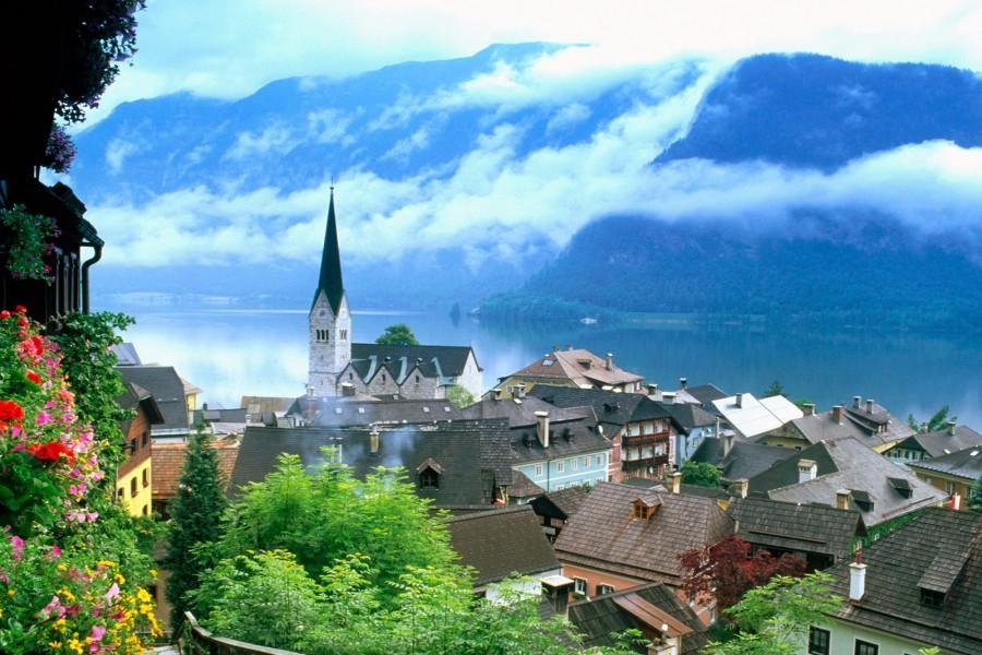 Nubes bajas sobre Salzkammergut (Austria)