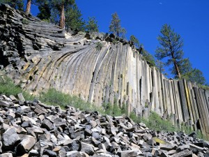 Pared de basalto (Devils Postpile National Monument, California)
