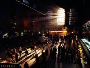 Rayos de sol dentro de Grand Central (Nueva York)