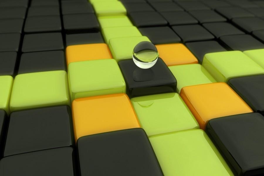 Bola de cristal sobre unos cubos