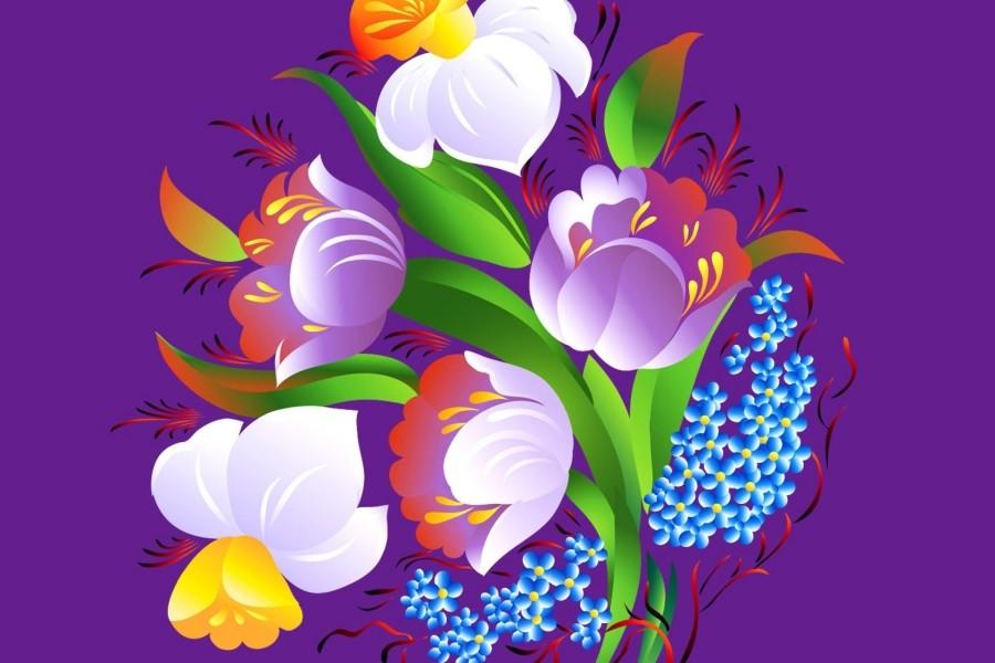 Ramo de flores en 3D