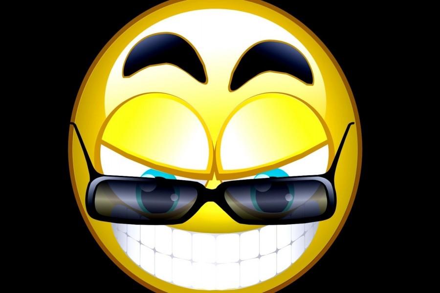 Smiley con gafas de sol
