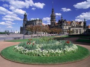 Jardines en Dresden (Alemania)