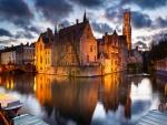 Vista parcial de la ciudad de Brujas (Bélgica)