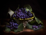 Cesta con uvas