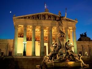 Palacio del Parlamento en Viena (Austria)