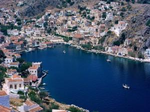 Bonita vista de Symi (Grecia)