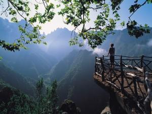 Admirando la belleza del paisaje