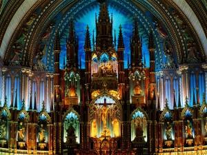 Interior de la Basílica Notre-Dame de Montreal