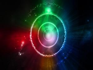 Círculos estrellados de varios colores