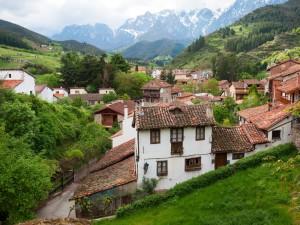 Vista de Potes (Cantabria, España)