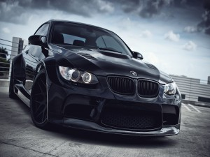 BMW M3 de color negro