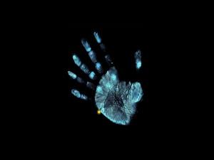 La huella de una mano