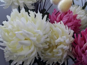 Bonitas flores de tela