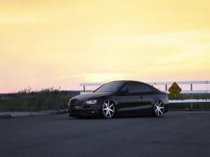 Audi S5 en una carretera