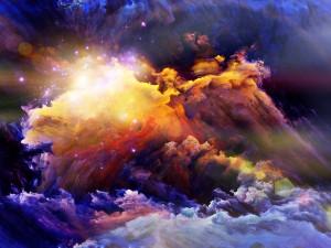 Explosión entre nubes