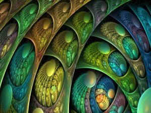 Plumas coloridas en estilo abstracto